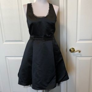 Special Occasion black satin dress Jr size 5